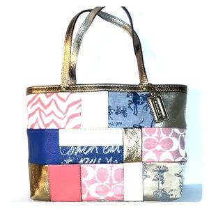 Limited edition Coach Patchwork Top Handle Tote